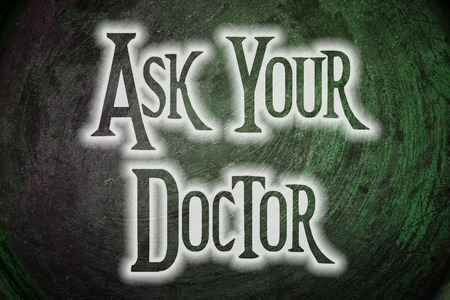 allergy questions: Ask Your Doctor Concept text on background
