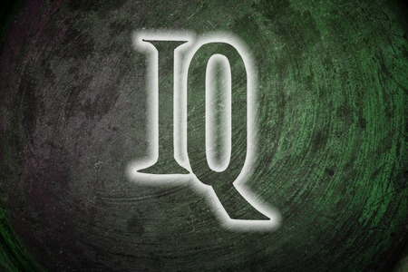 iq: IQ Concept text on background