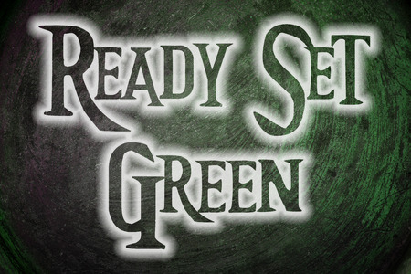 sold small: Ready Set Green Concept text on background