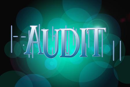 Audit word on vintage bokeh background, concept sign idea photo