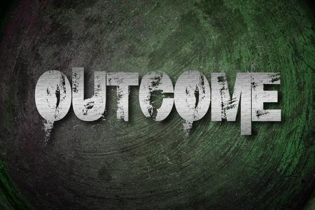 outcome: Outcome Concept text on background