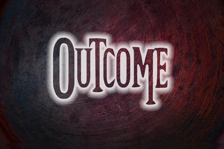 outcome: Outcome Concept text on background