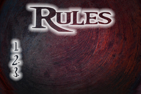 Rules Concept text on background photo
