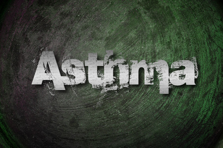 asthma: Asthma Concept text on background