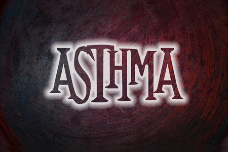 Asthma Concept text on background photo