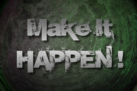 jargon: Make It Happen Concept text on background Stock Photo