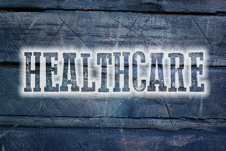 care providers: Healthcare Concept text on background