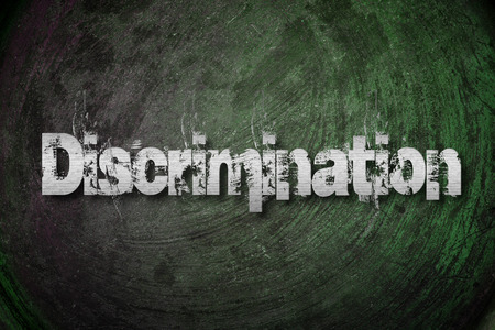sex discrimination: Discrimination Concept text on background