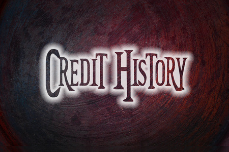 bank records: Credit History Concept text on background
