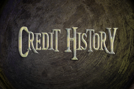 score: Credit History Concept text on background