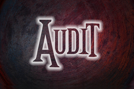 Audit Concept text on background photo