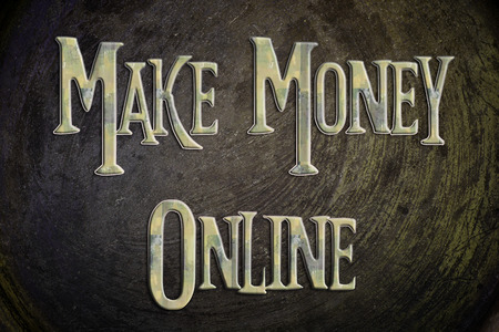 financial advisors: Make Money Online Concept text on background