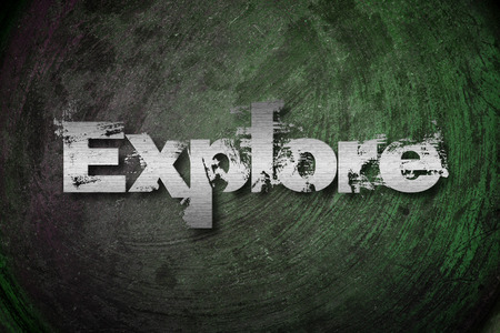 self discovery: Explore Concept text on background Stock Photo