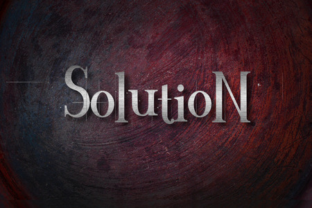 Solution Concept text on background photo