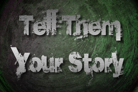 What is your story Concept text on background photo