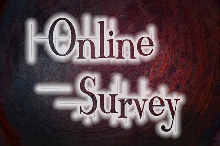 Online Survey Concept text on background photo