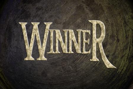 jargon: Winner Concept text on background