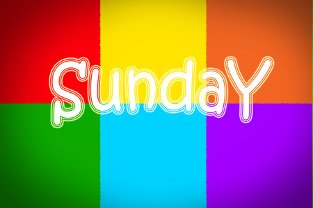 Sunday Concept text on background photo