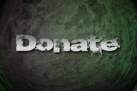 Donate Concept text on background photo