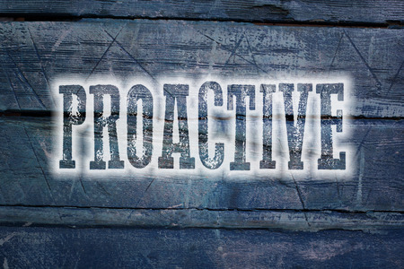 proactive: Proactive Concept text on background