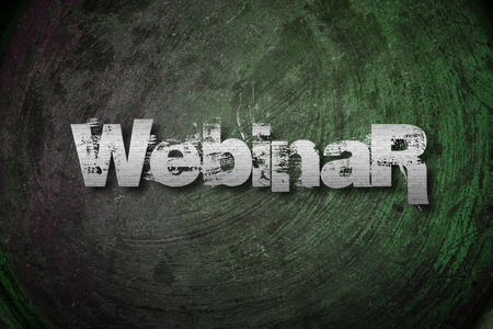 Webinar Concept text on background photo