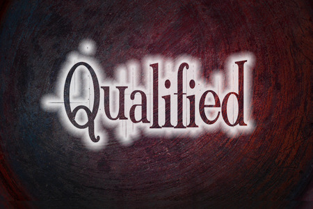 adept: Qualified Concept text on background Stock Photo