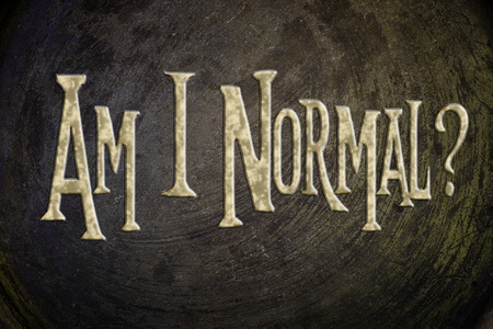 abnormal: Am I Normal Concept text on background