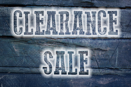 clearance: Clearance Sale Concept text on background