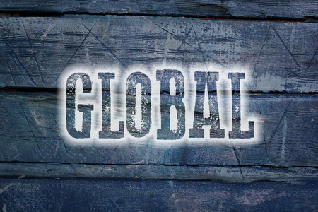 Global Concept text on background photo