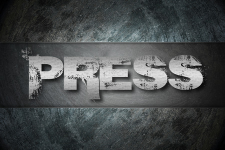 Press Release text on background Concept idea photo