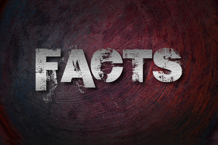 business matter: Facts Concept text on background