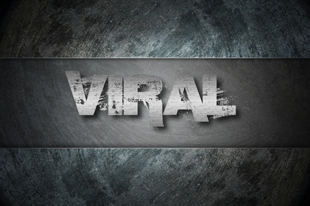 Viral Concept text on background