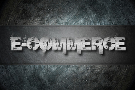 E-commerce Concept text on background photo