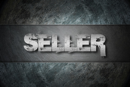 Seller Concept text on background