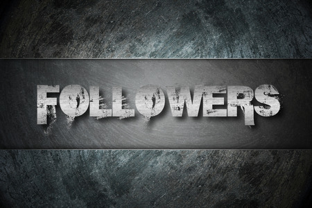 Followers Concept text on background photo