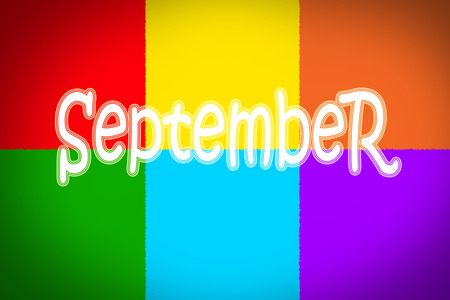 September Concept text on background Stock Photo