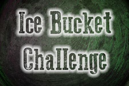 Ice Bucket Challenge Concept text on background Banco de Imagens