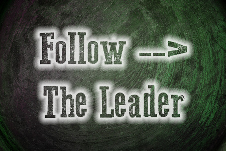 role model: Follow The Leader Concept text on background Stock Photo