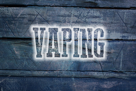 healthier: Vaping Concept text on background Stock Photo