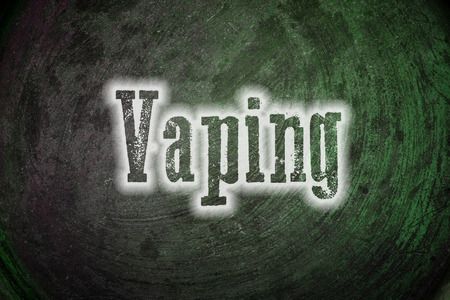 e cigarette: Vaping Concept text on background Stock Photo