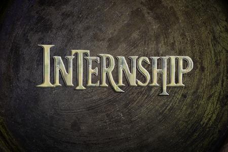 internship: Internship Concept text on background