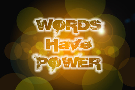 Words Have Power Concept text on background Stock Photo