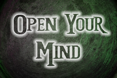 receptive: Open Your Mind Concept text on background Stock Photo
