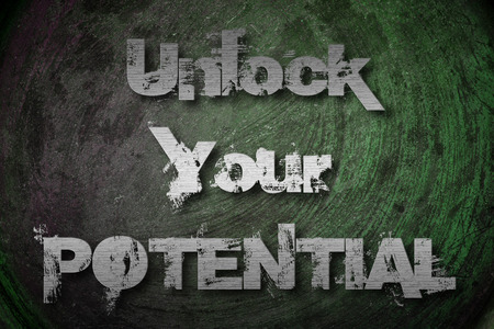 Unlock Your Potential Concept text on background Stock Photo