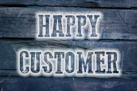 cause marketing: Happy Customer Concept text on background idea