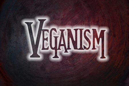 veganism: Veganism Concept text on background