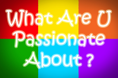 about you: What Are You Passionate About Concept text on background Stock Photo
