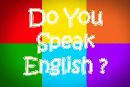 Do You Speak English Concept text on background photo