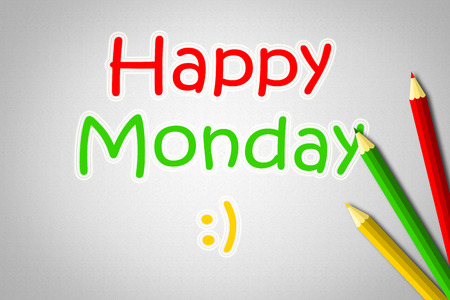 Happy Monday Concept text on background