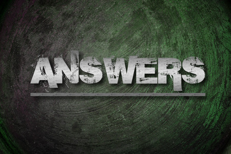 Answers Concept text on backcground